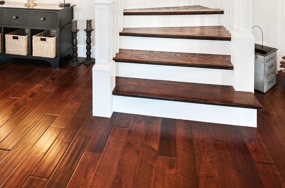 reclaimed tap sample maple hole rustic hardwood floor installation wood flooring